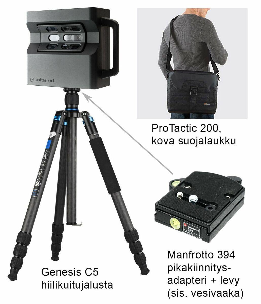 Matterport Pro2 3D -kamera + tarvikkeet