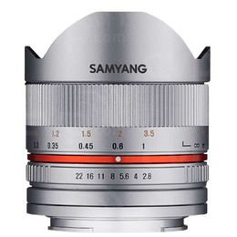Samyang 8mm F2.8 Fuji X silver Fish-eye II