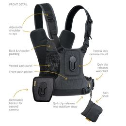 Cotton Carrier 3G Camera Harness System kiikarille ja  kameralle (944GREY)