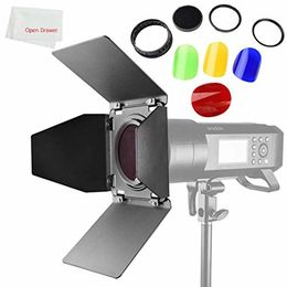 Godox BD-08 Barn Door and Color Filter for Godox AD400Pro