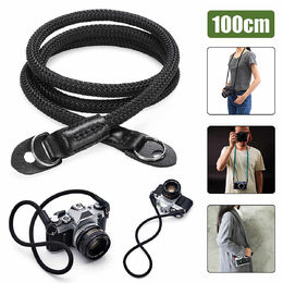 Leather Braided Shoulder  Neck Strap Rope  100cm