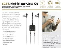 RØDE SC6-L Mobile Interview Kit ( Lightning adapt. + 2 x SmartLav+, nappimikrofoni)