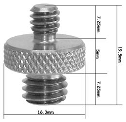"SmallRig Double Head Stud with 1/4"" to 3/8"" thread 855"