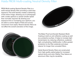 Haida Slim PRO II ND 2.7 (400x) Multi-coating Filter
