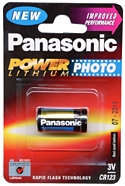 Panasonic Photo Lithium CR123A 3V