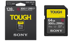 SONY Pro Tough SD 64GB 18x stronger UHS-II R300 W299 V90