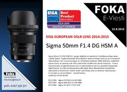 Sigma 50mm F1.4 DG Art Series HSM, Canon