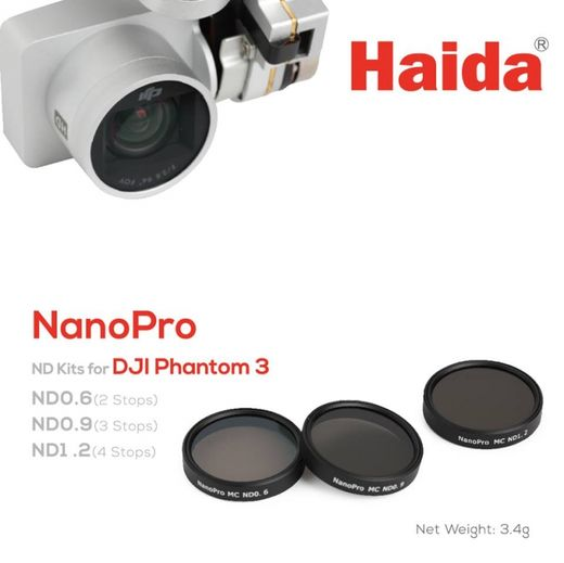 3kpl Haida NanoPro ND-set for DJI Phantom 3 ja 4