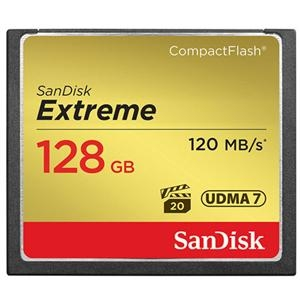 Sandisk 128GB Extreme Compact Flash 120MB/s