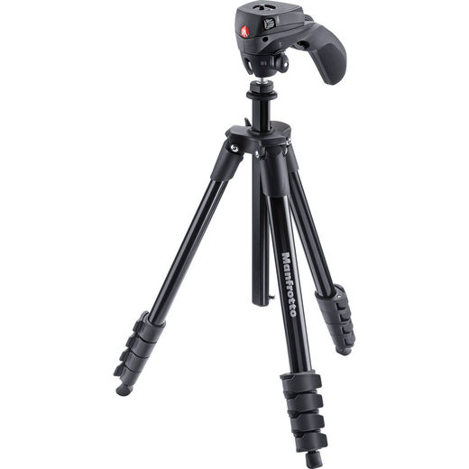 Manfrotto Compact Action Kit (MKCOMPACTACN-BK), Musta