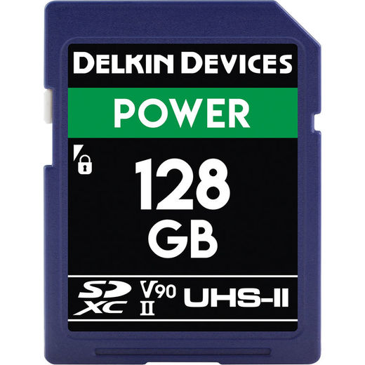 DELKIN CINEMA (Power) 128GB SDXC UHS-II, CINEMA SD (U3/V90)