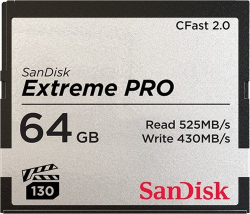 SanDisk 64GB Extreme PRO CFast 2.0 525MB/s (VPG130)