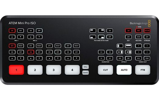 Blackmagic Design ATEM Mini Pro ISO HDMI Live-kytkin
