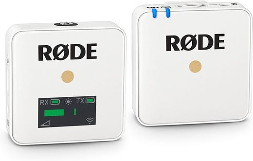 Rode Wireless GO Compact Wireless Microphone System (2.4 GHz), valkoinen