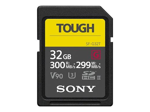 SONY Pro Tough SD 32GB 18x stronger UHS-II R300 W299 V90