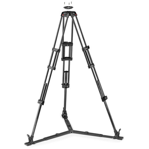 MANFROTTO 545GBCF / MVTTWINGC CF Twin GS video tripod (100/75MM BOWL)
