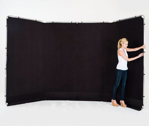 Lastolite 7621 Panoramic Background 4m Black