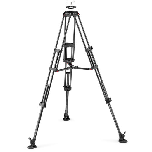 MANFROTTO 545GFC / MVTTWINMC CF Twin GS video tripod (100/75MM BOWL)