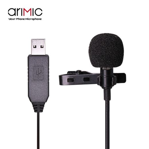 Arimic Lavalier Single Lapel rintanappimikrofoni (USB)