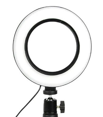 Studioline Selfie Ring Light  16cm + pöytäjalusta