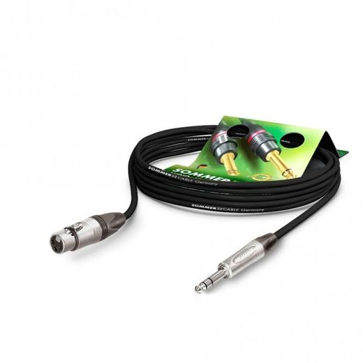 Sommercable The Stage XLR-naaras -> 6,3 mm PVC plug kaapeli 50cm