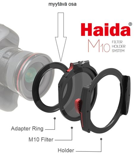 Haida M10 Filter Holder adapteri 58mm