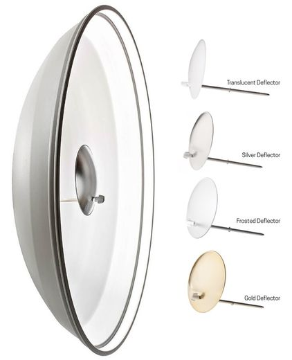 26168 Elinchrom White Beauty Dish 44cm + Deflector Kit