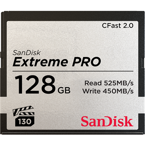 SanDisk 128GB Extreme PRO CFast 2.0 525MB/s (VPG130)