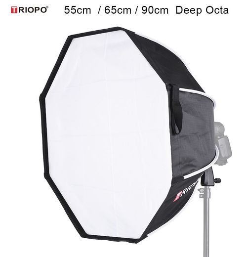 Triopo KX-55 Speedbox Deep Octa With Spigot Mount for Speedlight (käsisalama) 55cm