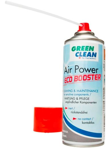 Green Clean Air Power Eco Booster -paineilmapullo + suutin (puhdas/palava)