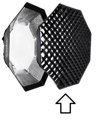 Godox P120G grid (hunajakenno) for 120cm octabox