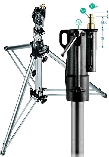 Manfrotto 126CSU Heavy Duty Stand 118-333cm