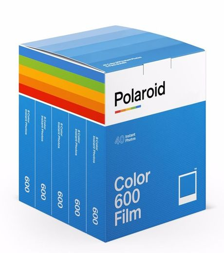 5-Pack Polaroid Color Film 600 for Vintage Polaroid ‐pikafilmi 40kpl