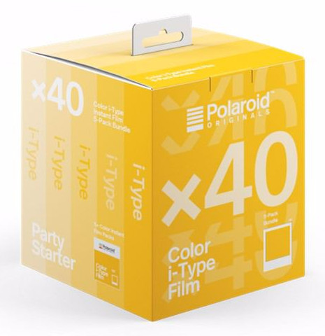 5-Pack Polaroid Originals Color Film for I-TYPE (OneStep 2) ‐pikafilmi 40kpl