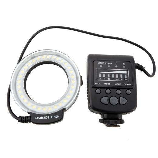 Meike FC100 LED ringlight/ringflash (mm. Canon, Nikon)