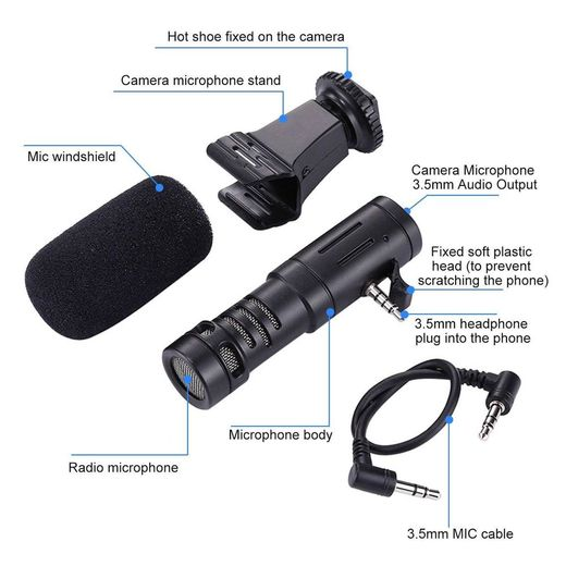 Video Microphone Mono (Phone / Camera Universal)