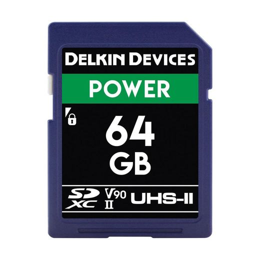DELKIN CINEMA (Power) 64GB SDXC UHS-II, CINEMA SD (U3/V90)