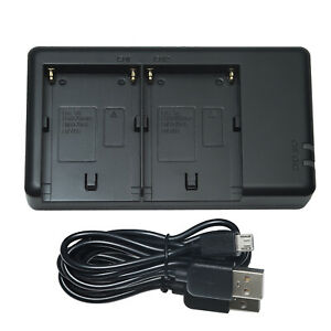 Dual USB-Charger Sony F-sarjan akuille  + Micro-USB kaapeli (NP-F550)