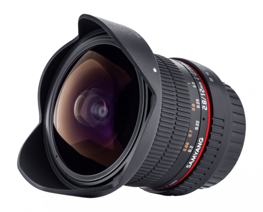 Samyang 12mm F2.8 ED AS NCS Fish-eye (full frame), Canon