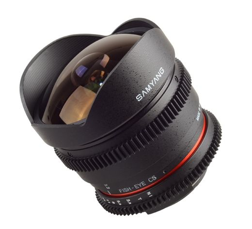 VDSLR versio Samyang 8mm T3.8 VDSLR UMC Fish-Eye CS II, Sony E-mount (NEX)