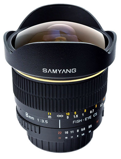 Samyang 8mm f/3.5 CS UMC Fish-Eye, Canon