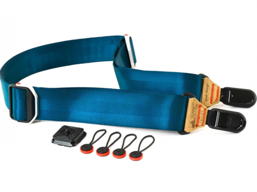 Peak Design Slide SL-L-2 blue neck strap (Navy with Caramel Leather)