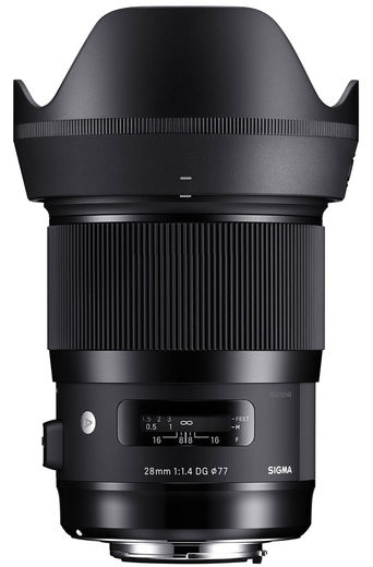 Sigma 28mm F1.4 DG Art HSM,  Sony e-mount