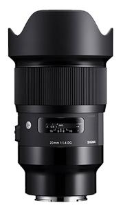Sigma 20mm F1.4 DG Art Series HSM, Sony E