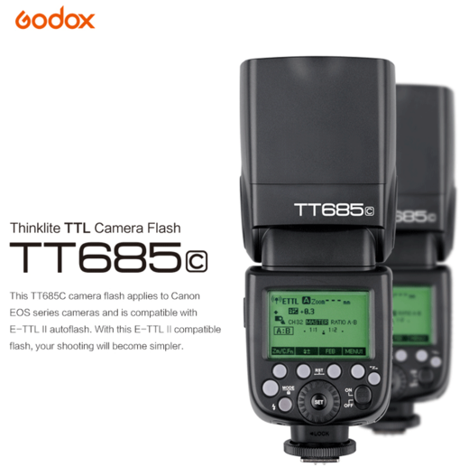 GODOX TT685C 2.4GHz TTL / HSS Radio Speedlite for Canon