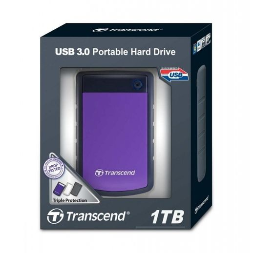 TRANSCEND STOREJET 25H3P USB 3.0 1TB (shock proof)