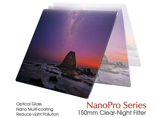 Haida Optical NanoPro Class Clear Night Filter 150x150mm Valosaastesuodin
