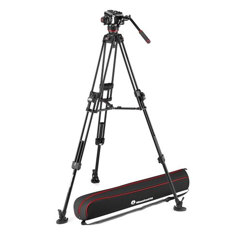 Manfrotto 504X Fluid Video Head + 645 Fast Twin Aluminum Tripod